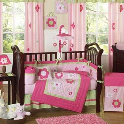 Fantastic Flower Crib Bedding Set