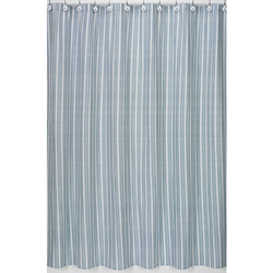 Go Fish Striped Shower Curtain