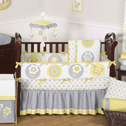 Mod Garden Crib Bedding Collection