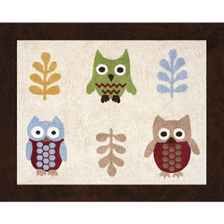 Owl Accent Rug