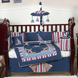 Nautical Nights Crib Bedding