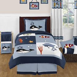 Ocean Blue Twin/Full Bedding Collection