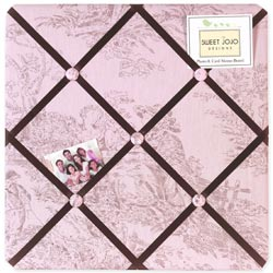 Pink & Brown Toile Memo Board