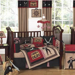 Pirate Treasure Cove Crib Bedding