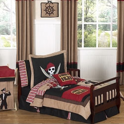 Pirate Treasure Cove Toddler Bedding