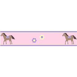 Pretty Pony Wallpaper Border
