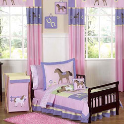 Pretty Pony Toddler Bedding