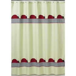 Ladybug Parade Shower Curtain