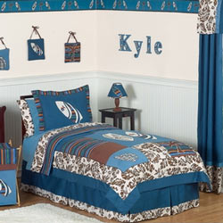 Surf Blue Twin/Full Bedding