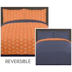 Arrow Orange and Navy Twin/Full Bedding Collection