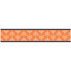 Arrow Orange and Navy Wallpaper Border