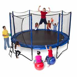 Staged Bounce Trampoline
