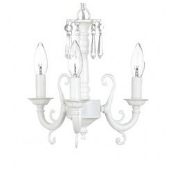 Three Arm Scroll Crystal Chandelier