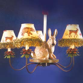 Jungle Rabbit Chandelier