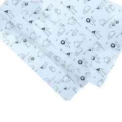 Set of 2 Safari Print Flannel Bassinet Sheet