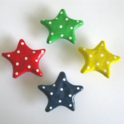 Polka Dot Star Furniture Knob