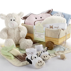 My Li'l Farm Wagon Layette Gift Set