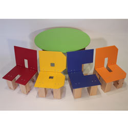 ABCD Round Table and Chair Set