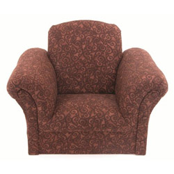Brown Scroll Kids Chair