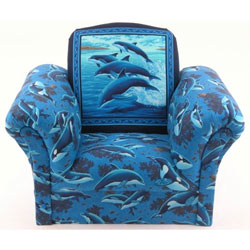 Dolphin Upholstered Kids Chair