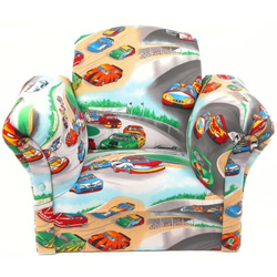 Race Cars Kids Upholstered Chair