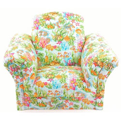 Sea Life Upholstered Kids Chair