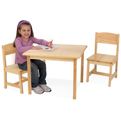 Aspen Natural Table and Chair Set