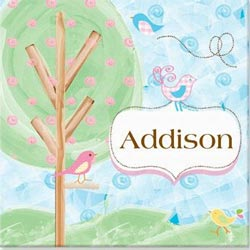 Personalized Birds Canvas Art