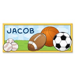 Personalized Rectangle Sports Canvas Art
