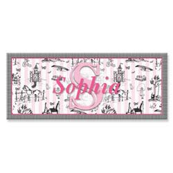 Personalized Toile Canvas Art- 10