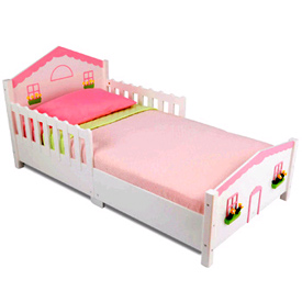 cottage toddler bed by kidkraft rh ababy com cozy cottage toddler bed cottage style toddler bed