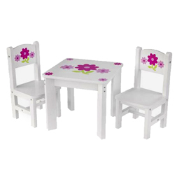 Floral Doll and Chair Set