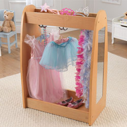 Natural Dress Up Unit with Hooks