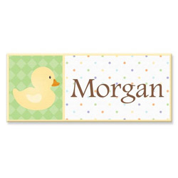 Personalized Ducky Canvas Art- 10
