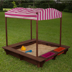 Espresso Sand Box with Canopy