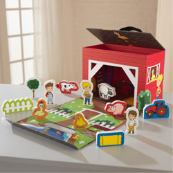 Farm Travel Box Playset