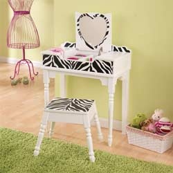Fun & Funky Vanity and Stool