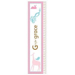 Personalized Girls Animal Growth Chart