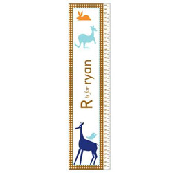 Personalized Boys Animal Growth Chart