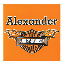 Harley Davidson® Personalized Canvas Art