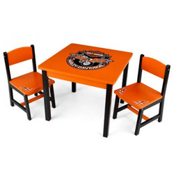 Harley Davidson Table and Chair Set