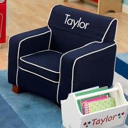 Personalized Blue Toddler's Laguna Chair