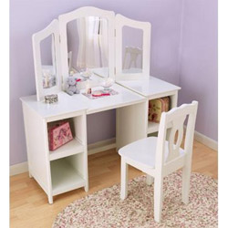 Kids Vanity Table Chair Set Little Girl Vanity Set Ababy