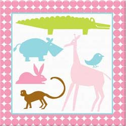 Girls Animal Canvas Art