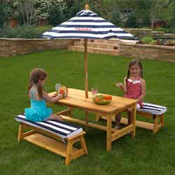Personalized Outdoor Table and Bench Set