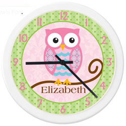 Personalized Owl Clock
