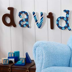 Preppy Wall Letters