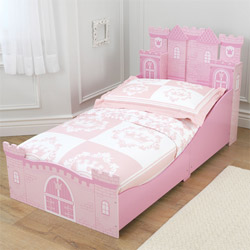 Pink Princess Castle Toddler Bed