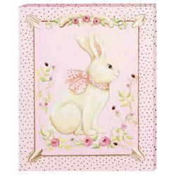 Rosebud Rabbit Canvas Art Painting