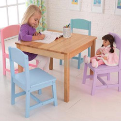 Seaside Table and 4 Chair Set